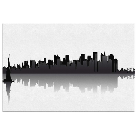 STATUE of LIBERTY & NY SKYLINE - CANVAS ART