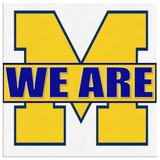 "WE ARE MICHIGAN ""CUSTOMIZED"" CANVAS ART"