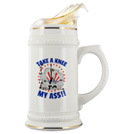 TAKE A KNEE MY ASS!! LADY LIBERTY PATRIOTIC BEER STEIN