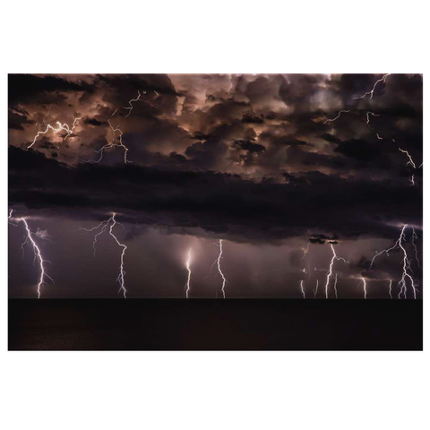 MAJESTIC LIGHTNING STRIKES - CANVAS ART
