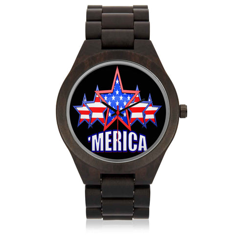 """MERICA Customized Wood Watch"