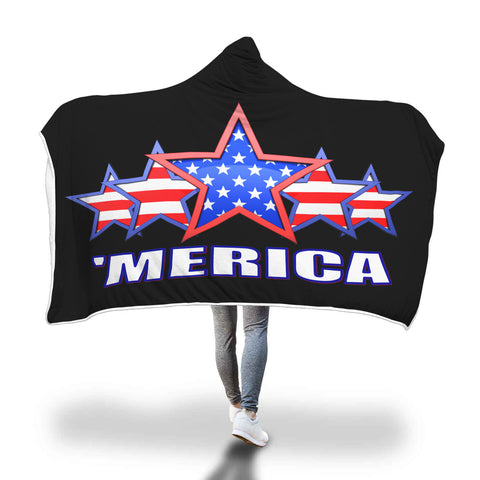 'MERICA CUSTOMIZED HOODED BLANKET