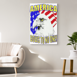 AMERICA BOWS TO NO ONE - CANVAS ART