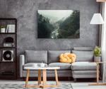 FOGGY MOUNTAIN RIVER - CANVAS ART