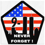 NEVER FORGET 9/11 - CANVAS ART