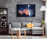 LADY LIBERTY TORCH - CANVAS ART