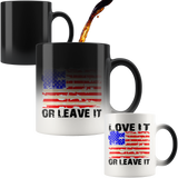 LOVE IT OR LEAVE IT PATRIOTIC MAGIC COFFEE MUG
