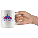 "AMERICA ""5 STAR"" SALUTE COFFEE MUG"