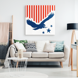 EAGLE FLAG - CANVAS ART