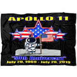 "Apollo 11 ""50th Anniversary"" Moon Landing Fleece Blanket"