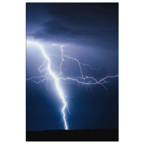 SILVER LIGHTNING - CANVAS ART
