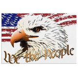 WE THE PEOPLE EAGLE N FLAG - CANVAS ART