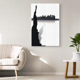 STATUE of LIBERTY W/CITYSCAPE - CANVAS ART