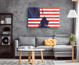 RAISING THE FLAG AT IWO JIMA - CANVAS ART