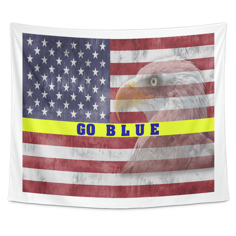 Patriotic GO BLUE Wall Tapestry!