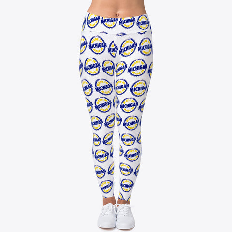 """MADE IN MICHIGAN"" CUSTOMIZED TRENDY LEGGINGS"