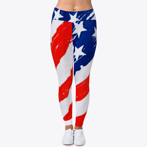 """PATRIOTIC FLAG"" CUSTOMIZED TRENDY DESIGNER LEGGINGS"