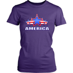 "AMERICA ""5 STAR"" PATRIOTIC FLAG - WOMENS COLLECTION"