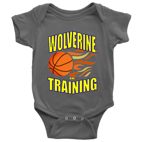 WOLVERINE in TRAINING BASKETBALL Baby Bodysuit