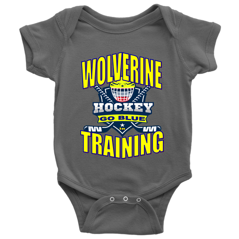 WOLVERINE in TRAINING - Hockey Baby Bodysuit