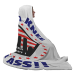 Take A Knee My Ass!! Customized Hooded Blanket