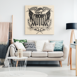 HANDDRAWN AMERICAN FLAG - CANVAS ART