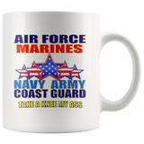 TAKE A KNEE MY ASS! PATRIOTIC COFFEE MUG