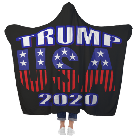 TRUMP USA 2020 Customized Collectible Hooded Blanket