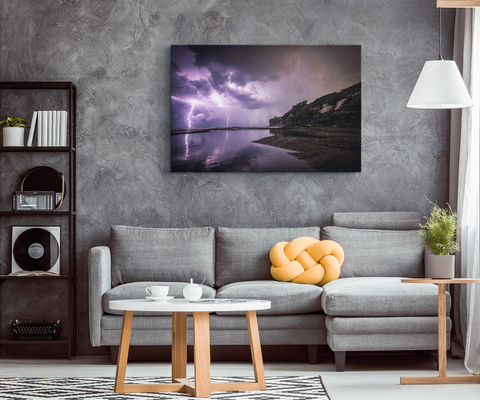 MAJESTIC LIGHTNING STRIKE - CANVAS ART