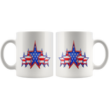 'MERICA 5 STAR PATRIOTIC FLAG COFFEE MUG