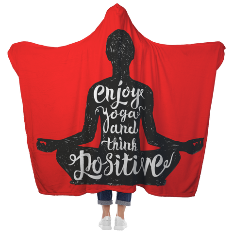 YOGA Enjoy & Be Positive - Custom Hooded Blanket