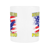 NEVER APOLOGIZE FOR BEING PATRIOTIC COFFEE MUG