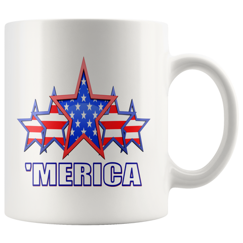'MERICA 5 STAR SALUTE COFFEE MUG