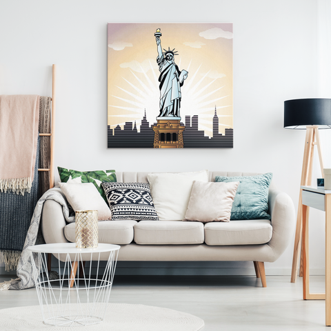 LADY LIBERTY SKYLINE - CANVAS ART