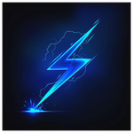 LIGHTNING BOLT - CANVAS ART