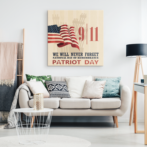 9/11 WE WILL NEVER FORGET - CANVAS ART