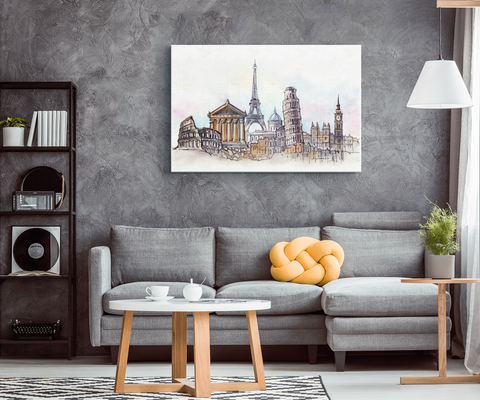 "EUROPEAN CITYSCAPES - ""CUSTOMIZED"" CANVAS ART"