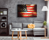 WEATHERED USA FLAG - CANVAS ART