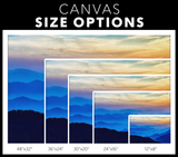 HEAVENLY BLUE MOUNTAINS - CANVAS ART