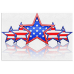 MULTISTAR STARS & STRIPES - CANVAS ART