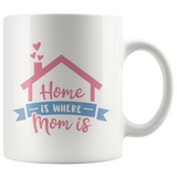 HOME IS WHERE MOM IS COFFEE MUG