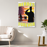 HEROES FOREVER - CANVAS ART