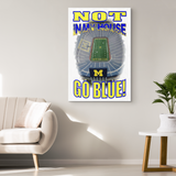 "NOT IN MY HOUSE GO BLUE - ""CUSTOM"" CANVAS ART"