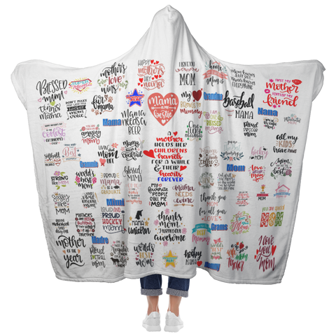 Mother's Day Customized Hooded Blanket