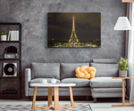 EIFFEL TOWER AT NIGHT - CANVAS ART