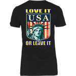 USA LOVE IT OR LEAVE IT   WOMENS T-SHIRT