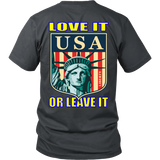 USA LOVE IT OR LEAVE IT  MENS T-SHIRT