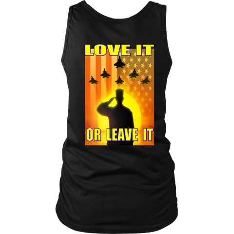 USA - LOVE IT OR LEAVE IT  - WOMENS TANK TOP