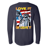 USA  - LOVE IT OR LEAVE IT  MENS LONG SLEEVE SHIRT