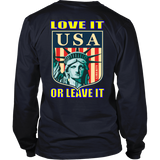 USA LOVE IT OR LEAVE IT - MENS LONG SLEEVE SHIRT
